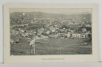 View of Schuylkill Haven Pa Early Bird's Eye Man on Hill c1910 Postcard N10