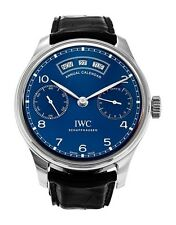 IWC Portugieser Annual Calendar Power Reserve Stainless Steel Blue Dial IW503502
