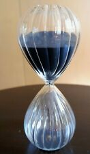 Great Large Hourglass Sand Timer with Black Sand - 60 minute