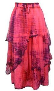 Jordash Embroidered Layered Net Skirt Pink Purple Tie Dye Fairy Pagan FREESIZE