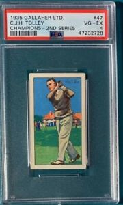 1935 Gallaher Ltd. Golf #47 C.J.H. Tolley Champions 2nd Series PSA 4