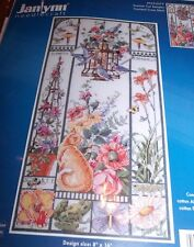 "Janlynn SUMMER CAT SAMPLER Counted Cross Stitch Kit 8"" x 16"""