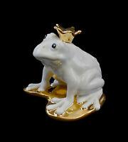 9942357 Porzellanfigur Frosch Froschkönig Wagner & Apel 9x9x9cm