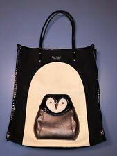 Kate Spade Black & White Owl Tote Bag