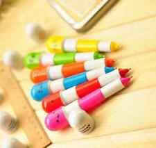 6X mini Cute Expression Pill Ball Point Pen Telescopic Vitamin Capsule Ballpen