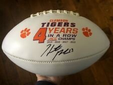 Clemson Tigers Hunter Renfrow Signed Football Raiders Champs Autographed Proof
