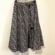 Free People Floral Print Boho Chic Wrap Lined Midi Skirt Size 0
