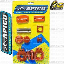 Apico Bling Pack Orange Blocks Caps Plugs Clamp Cover For KTM SX 250 2002 MotoX