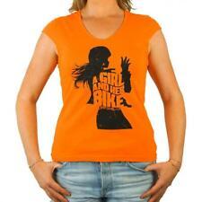 Tee Shirt moto Femme L'Entourloop Her Bike Orange taille S
