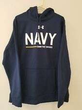 NAVY UNDER ARMOUR DAM THE TORPEDOS SHIP HOODIE XL LOOSE FIT