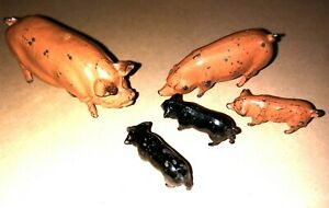 Metal Britain's and other makes. Farm  pig family  set 6