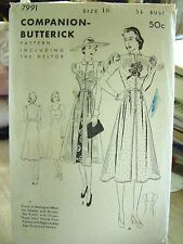 1920's Redingote & Bias Cut Slip Dress Butterick Deltor Pattern 7991 Peignoir
