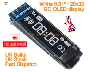 "128X32 0.91"" OLED module White Display Module for Arduino SSD1306 I2C IIC"