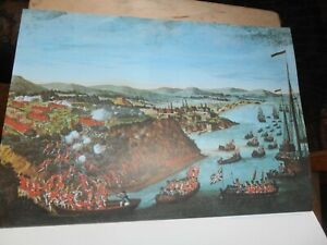 """View of the taking of Quebec by English Forces,General Wolfe,Sept 1759. 12"""" x 8"""""""