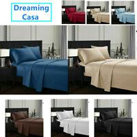 Egyptian Comfort 4 Piece 1800 Count Hotel Luxury Bed Sheet Set Deep Pocket H5