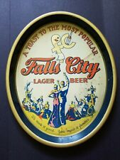 Early 1900's Falls City Lager Beer Tray Advertising Louisville Ky Very Rare