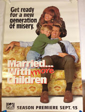 Married With Children promo Poster /1992 Fox Television 27 X 40 'New Generation'