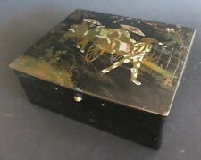 BOITE XIX EME PAPIER MACHE JAPONISANT BOX NAPOLEONIII JAPANESE