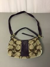 Coach Handbag Purse Pocketbook  Browns w/ Purple #1