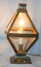 Vintage Carriage Lantern Style Table Lamp Brass #2
