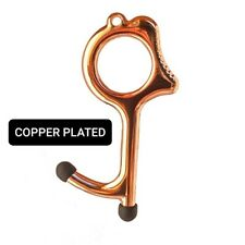 Copper Plated Germ Free Door Opener Tool No Touch Button Pusher Stylus Keychain