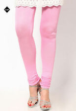 Fashionable Baby Pink Colour Cotton Fabric Leggings (Size XL) MJ2048