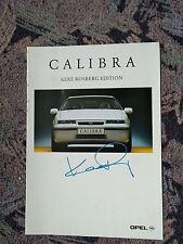 Opel Calibra Keke Rosberg Edition Prospekt Original