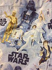 "HTF 2008 Pottery Barn Kids Star Wars ""A New Hope"" Full Flat, Fitted Sheet set"