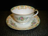 VINTAGE NORITAKE 'ADELA'  OLD LARGE  ''M'' MARK CUP AND SAUCER SET