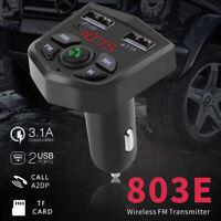 Car Kit Bluetooth 5.0 Handsfree Wireless FM Transmitter LCD MP3 Player USB C_ws