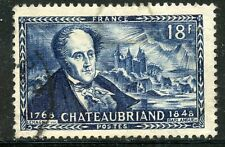 stamp / TIMBRE FRANCE OBLITERE N° 816 / CELEBRITE / CHATEAUBRIAND