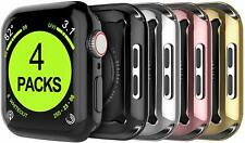 4Pcs Apple Watch Series 5 4 3 2 Case Screen Protector Full Body Protective Cover