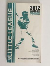 Little League 2012 Baseball Playing Rules. FREE Shipping!