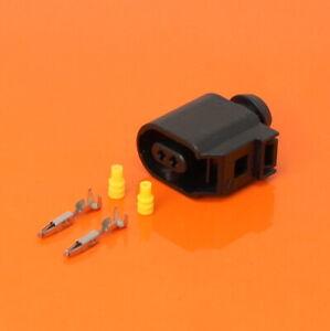 VW AUDI VAG - 6E0 973 702 2 Pin Sealed Female Connector For ABS Sensor 6E0973702