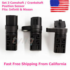 Set 3 Camshaft / Crankshaft Position Sensor CPS For Infiniti & Nissan NEW FREE