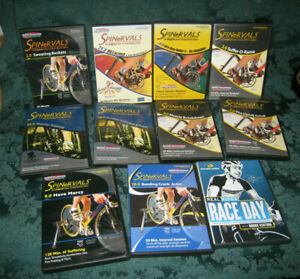 SpinerVals DVDs Spinning Workout Cycling LOT OF 10 Troy Jacobson & Race Day DVD