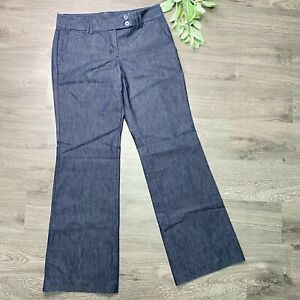 EXPRESS Editor Trousers Denim Classic Leg Size 6 Regular