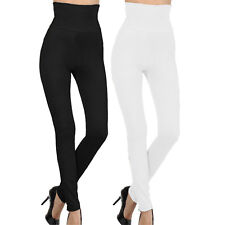 2-Pack High Waist Compression Top Tummy Control Full Length Legging Thick Pants