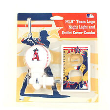 MLB Los Angeles LA Angels of Anaheim Night Light & Outlet Cover Combo