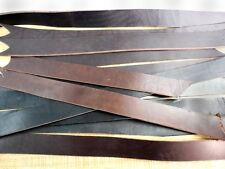 Harness / Bridle Leather Straps BLACK & BROWN Strips Scraps Remnants YOU CHOOSE