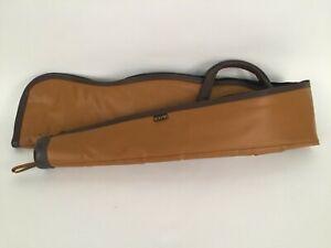 """Vintage Kolpin 53"""" Brown Leather Gun Case Bag"""