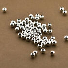 100 Sterling Silver 4mm Round Seamless Smooth Beads - 4mm Sterling Silver Beads
