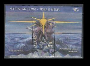 Aland Scott No. 221 Norse Gods Souvenir Sheet Off Paper CTO