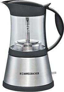 Rommelsbacher EKO 376/G Espressokocher, 360 Grad Sockel, Ein-/Ausschalter