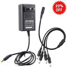 Security Camera Power Supply Adapter 12V 2.5A 100V-240V AC To DC Fits CCTV DVR