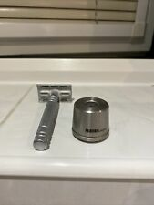 Feather AS D2 Double Edged 100% Stainless Steel Safety Razor With Feather Stand