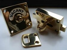 BRASS VACANT ENGAGED TOILET ⭐️⭐️⭐️⭐️⭐️ BATHROOM LOCK BOLT INDICATOR DOOR HANDLES