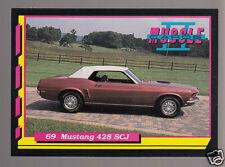 1969 FORD MUSTANG 428 SCJ Super Cobra Jet V8 Muscle Car Photo 1992 TRADING CARD