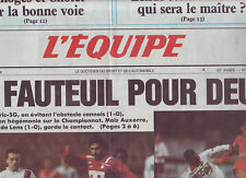 journal  l'equipe 05/12/88 FOOTBALL PARIS SG CANNES MONACO LILLE RUGBY TOULOUSE