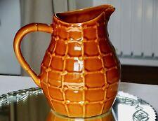 Ancien PICHET POT à EAU céramique barbotine St CLEMENT décor noeuds No 7507